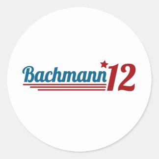 Bachmann '12 etiqueta redonda