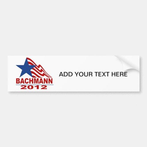 Bachmann for President 2012 Car Bumper Sticker