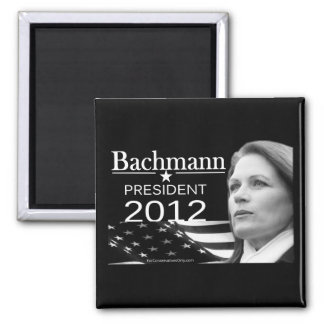 Bachmann for President 2 Inch Square Magnet
