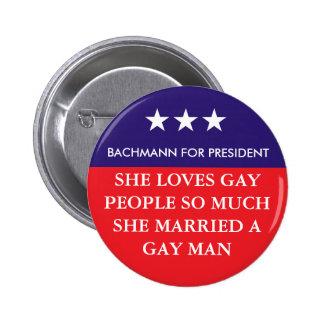 Bachmann For President Button