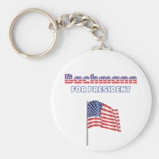 Bachmann for President Patriotic American Flag Keychain