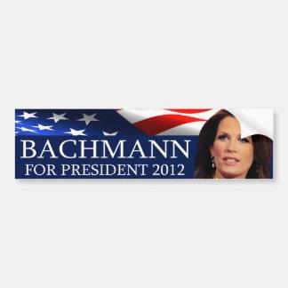 Bachmann para el presidente 2012 pegatina para auto