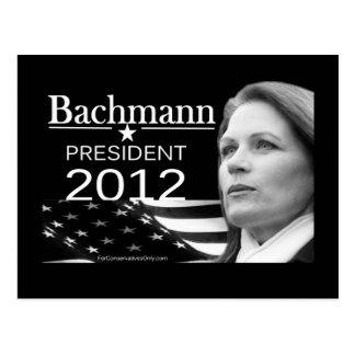 Bachmann para el presidente tarjeta postal