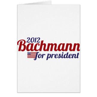 bachmann president 2012 card