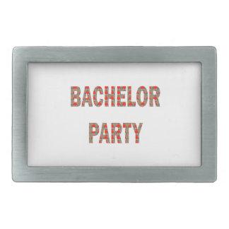 BACHOLER PARTY: Engagement, Wedding, Honeymoon Rectangular Belt Buckle