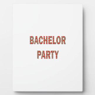 BACHOLER PARTY Engagement Wedding Honeymoon Display Plaque