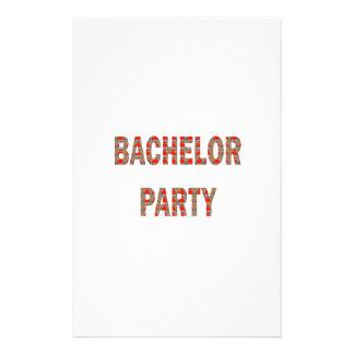BACHOLER PARTY: Engagement, Wedding, Honeymoon Stationery
