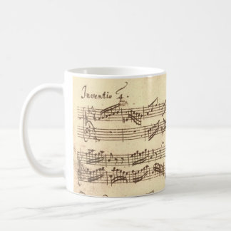 Bach's Invention Classic White Coffee Mug