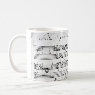Bach's Lute Suite Classic White Coffee Mug