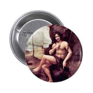 Bachus By Leonardo Da Vinci (Best Quality) 2 Inch Round Button