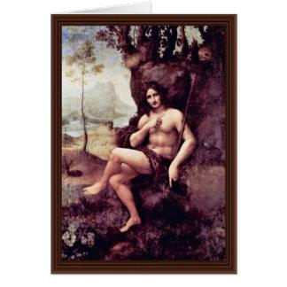 Bachus By Leonardo Da Vinci (Best Quality) Greeting Card