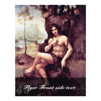 "Bachus By Leonardo Da Vinci (Best Quality) 8.5"" X 11"" Flyer"