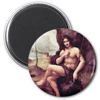 Bachus By Leonardo Da Vinci (Best Quality) 2 Inch Round Magnet