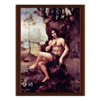Bachus By Leonardo Da Vinci (Best Quality) Postcard