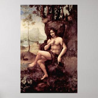 Bachus by Leonardo di ser Piero da Vinci Poster