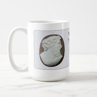 Bachus Cameo with Poem Classic White Coffee Mug