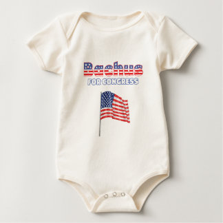 Bachus for Congress Patriotic American Flag Design Baby Bodysuit