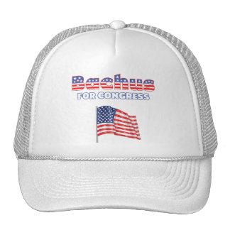 Bachus for Congress Patriotic American Flag Design Trucker Hat