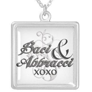Baci & Abbracci - Hugs & Kisses - XOXO Silver Plated Necklace