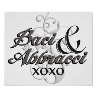 Baci y Abbracci - abrazos y besos - XOXO Impresiones