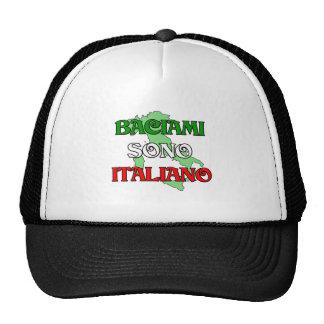 Baciami Italiano (béseme que soy italiano) Gorras