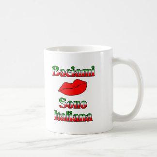 Baciami Sono Italiana (Kiss Me I'm Italian) Coffee Mug