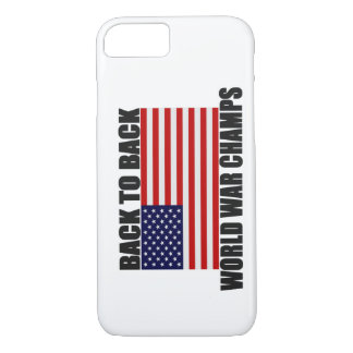 Back 2 Back World War Champs US Flag iPhone 7 case