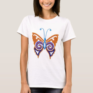 Back 2 Nature Embroidered L@@k Butterfly T-shirt