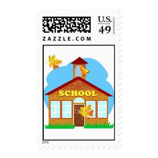 BACK 2 SCHOOL 179252011 CARTOON BUILDING Preschool Stamp