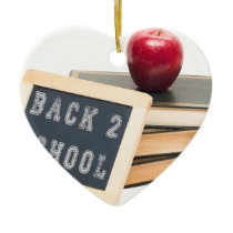 Back 2 School Ceramic Ornament