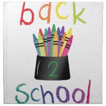 Back 2 School Cloth Napkin