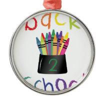 Back 2 School Metal Ornament
