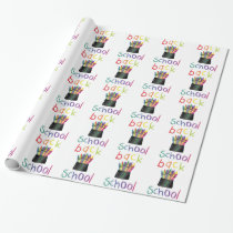 Back 2 School Wrapping Paper