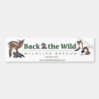 Back 2 The Wild Bumper Sticker Car Bumper Sticker