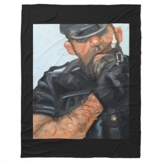 Back Alley Cornado, by Kenney Mencher Fleece Blanket