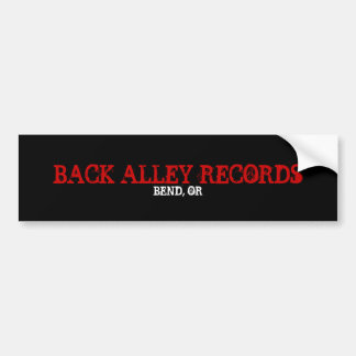 BACK ALLEY RECORDS, BEND, OR BUMPER STICKER