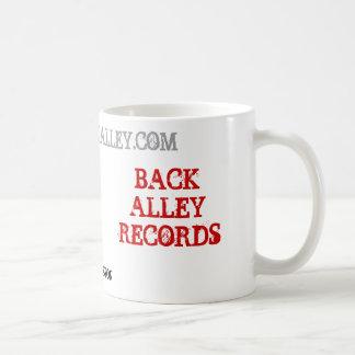 BACK ALLEY RECORDS, BEND, OREGON, WWW.GOBACKALL... COFFEE MUG