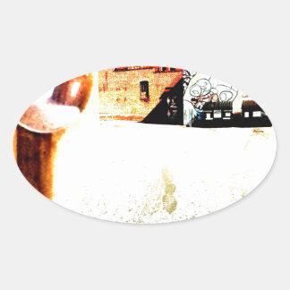 Back ally oval sticker
