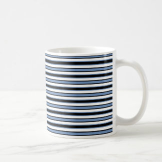 Back and Forth Black and Blue/Gray Coffee Mug