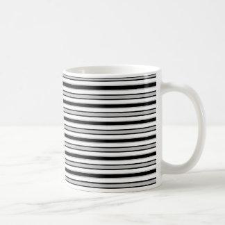 Back and Forth Black and Gray Coffee Mug