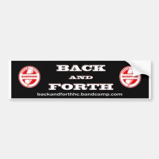 Back and Forth - NJHXC Car Bumper Sticker