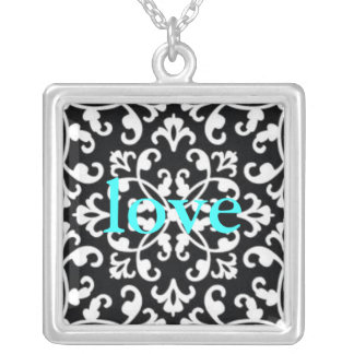 Back and White Love Necklace