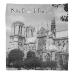 Back and White Notre Dame de Paris Bandana