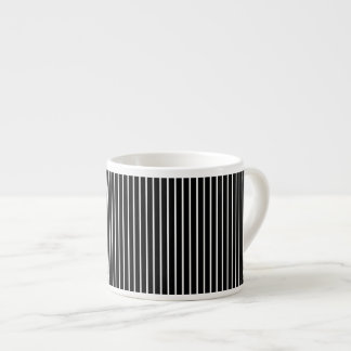 Back and White Pinstripe Espresso Cup