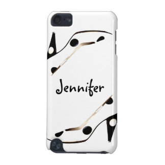 Back and White Polka Dot Designer Shoe iPod iPod Touch (5th Generation) Cover