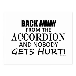 Back Away From The Accordion Postcard