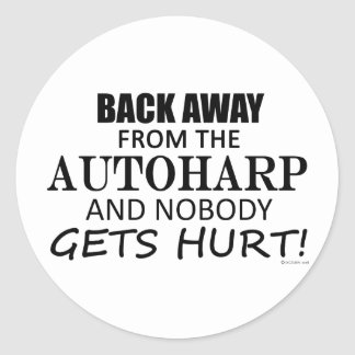 Back Away From The Autoharp Classic Round Sticker