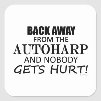 Back Away From The Autoharp Square Sticker