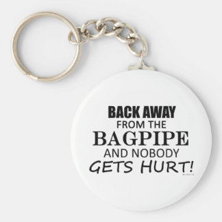 Back Away From The Bagpipe Basic Round Button Keychain