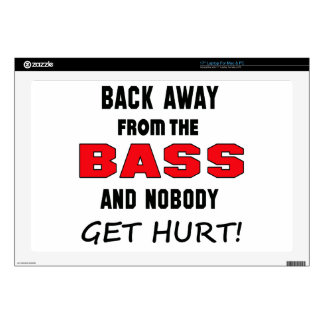 """Back away from the bass and nobody get hurt! 17"""" laptop skin"""